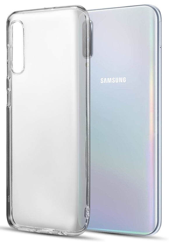Transparent Clear Flex Gel TPU Skin Case Slim Cover for Samsung Galaxy A50