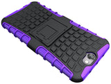 PURPLE GRENADE GRIP RUGGED TPU SKIN HARD CASE COVER STAND FOR HTC ONE A9 PHONE