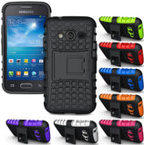 BLACK GRENADE RUGGED TPU SKIN HARD CASE COVER STAND FOR SAMSUNG GALAXY ACE-4