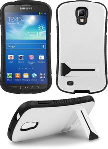 WHITE SEXY SLIM CURVED CASE SKIN COVER STAND FOR SAMSUNG GALAXY S4 ACTIVE i537
