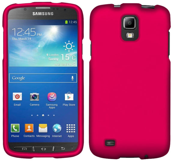 PINK PROTEX RUBBERIZED HARD CASE COVER FOR AT&T SAMSUNG GALAXY S4 ACTIVE i537