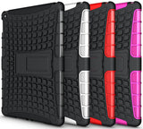 RED GRENADE GRIP RUGGED SKIN HARD CASE COVER STAND FOR iPAD AIR-2 A1566 A1567