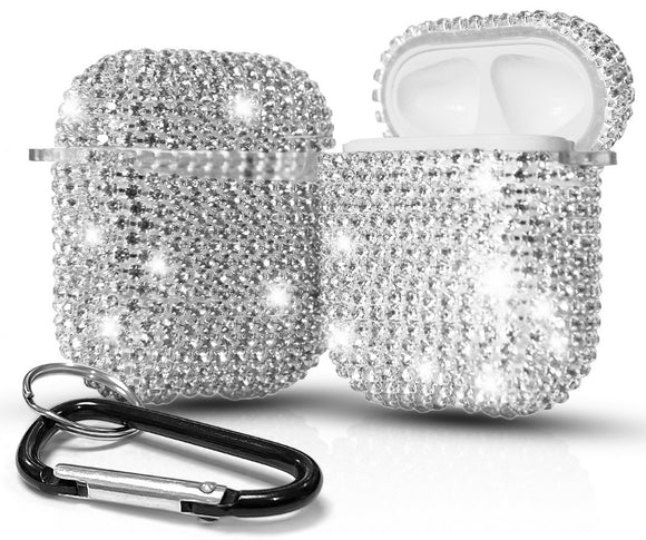 Crystal Diamond Rhinestone Bling Hard Case Cover for Apple Airpods