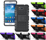 NEON ORANGE GRENADE GRIP TPU SKIN HARD CASE COVER STAND FOR SAMSUNG GALAXY ALPHA