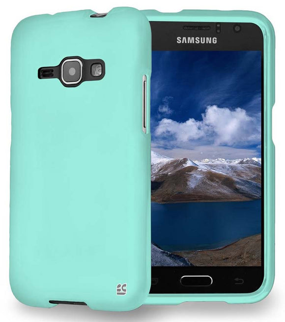 MINT RUBBERIZED HARD PROTECTOR CASE COVER FOR SAMSUNG GALAXY AMP-2 SM-J120A