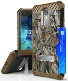 AUTUMN CAMO TREE REAL WOODS CASE COVER for LG K8+ K8 2018/Fortune 2/Phoenix 3