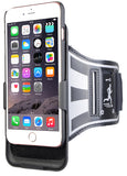 BLACK CASE COVER + ARMBAND STRAP COMBO ROTATING/REFLECTIVE FOR iPHONE 7 PLUS