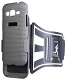 BLACK CASE COVER + ARMBAND STRAP COMBO FOR SAMSUNG GALAXY CORE PRIME G360