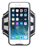BLACK CASE COVER + ARMBAND STRAP COMBO ROTATING/REFLECTIVE FOR iPHONE 6 6s