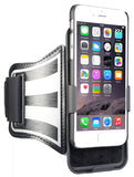 BLACK CASE COVER + ARMBAND STRAP COMBO ROTATING/REFLECTIVE FOR iPHONE 6/6s PLUS
