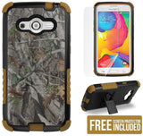 AUTUMN WOODS CAMO LEAF TRI-SHIELD RUGGED CASE STAND FOR SAMSUNG GALAXY AVANT
