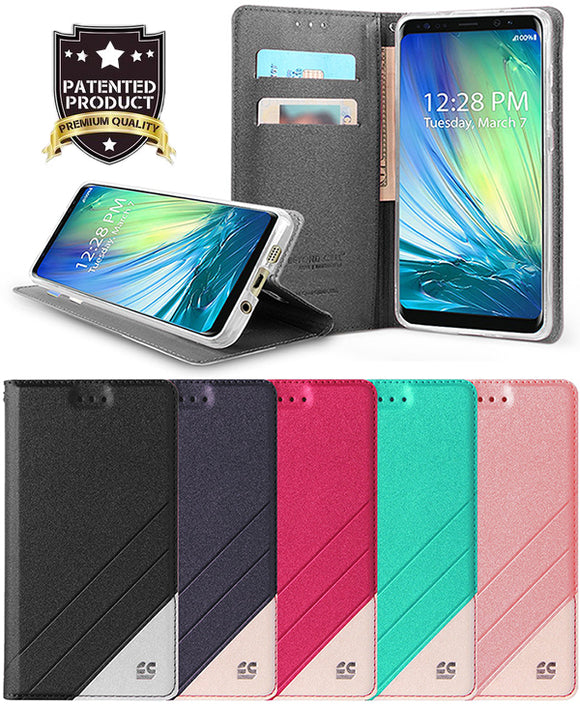 WALLET CREDIT CARD SLOT CASE + WRIST STRAP FOR ZTE BLADE X MAX, BLADE MAX 3