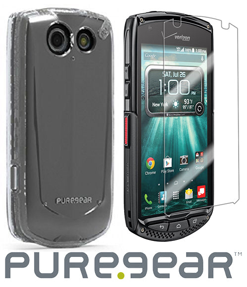PUREGEAR CLEAR CASE COVER + SCREEN PROTECTOR FOR VERIZON KYOCERA BRIGADIER E6782