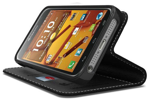 BLACK INFOLIO WALLET CREDIT CARD ID CASH CASE COVER FOR KYOCERA HYDRO ICON  C6730