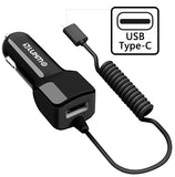 Black 2.1A USB TYPE-C CAR CHARGER USB PORT FOR SAMSUNG GALAXY S9 S8 PLUS NOTE 8