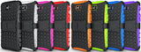 NEON ORANGE GRENADE GRIP TPU SKIN HARD CASE COVER STAND FOR LG G PRO LITE PHONE