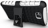 WHITE GRENADE GRIP RUGGED TPU SKIN HARD CASE COVER STAND FOR LG G PRO LITE PHONE