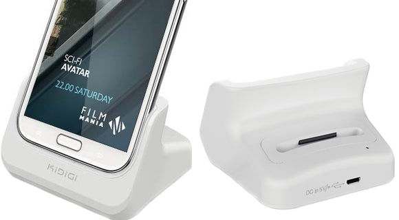 KiDiGi WHITE BATTERY CHARGER DESKTOP CRADLE DOCK FOR SAMSUNG GALAXY NOTE 2 II