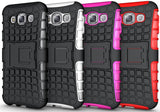 BLUE GRENADE GRIP RUGGED TPU SKIN HARD CASE COVER STAND FOR SAMSUNG GALAXY E5