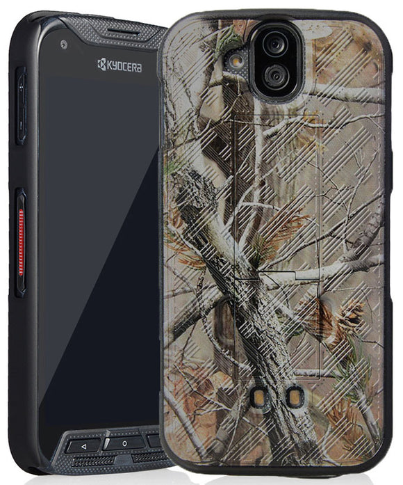 Camo Leaf Tree Kickstand Case Hard Cover for Kyocera DuraForce Pro E6810 E6820