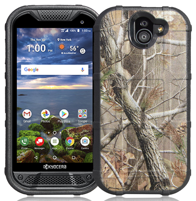 Camo Tree Real Woods Rugged Shield Case Flex Cover for Kyocera Duraforce  Pro 2