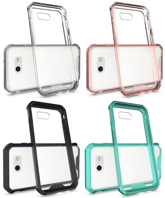 CLEAR HYBRID ANTI-SHOCK TPU CASE HARD COVER FOR SAMSUNG GALAXY J3 EMERGE 2017