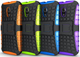 PINK GRENADE GRIP RUGGED TPU SKIN HARD CASE COVER STAND FOR MOTO-G 2nd GEN 2014