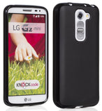 BLACK FLEX GEL TPU SOFT GRIP SKIN CASE COVER FOR LG G2 MINI (Sprint LS885, D620)