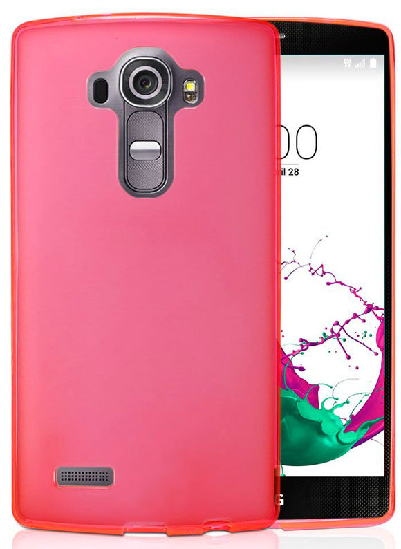 HOT PINK FLEX GEL TPU SOFT GRIP SKIN CASE COVER FOR LG G3