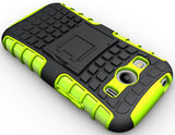 NEON LIME GREEN GRENADE CASE COVER STAND FOR SAMSUNG GALAXY ACE 4 STYLE LTE G357