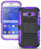 PURPLE GRENADE HARD CASE COVER STAND FOR SAMSUNG GALAXY ACE 4 STYLE LTE G357