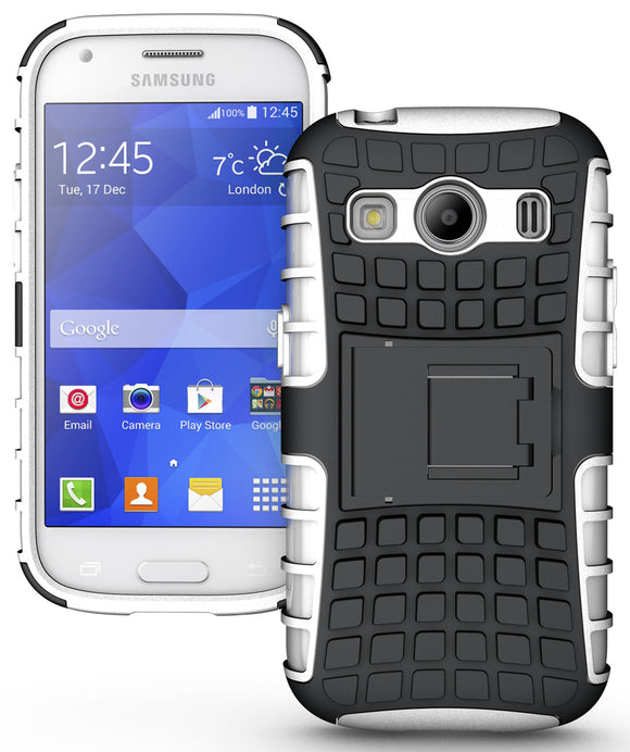 WHITE GRENADE SKIN HARD CASE COVER STAND FOR SAMSUNG GALAXY ACE 4 STYLE LTE G357