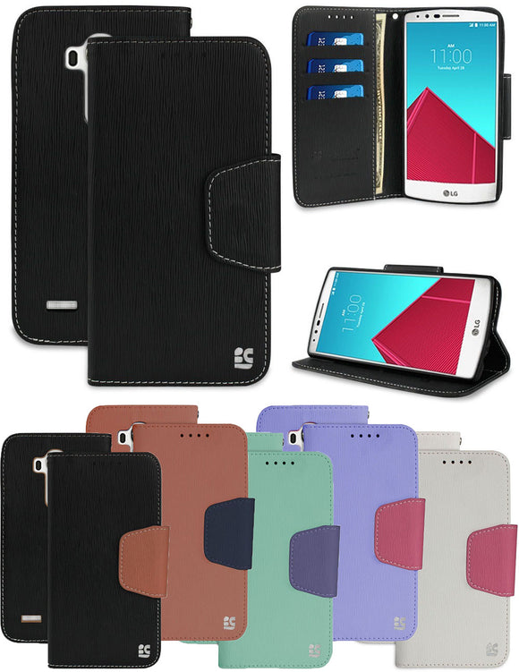NEW INFOLIO WALLET CREDIT CARD SLOT CASH CASE COVER VIEW STAND FOR LG G4 PHONE