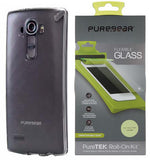 PUREGEAR SLIM SHELL CASE COVER + FLEX GLASS SCREEN PROTECTOR FOR LG G4 PHONE