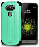 MINT MATTE SLIM DUO-SHIELD CASE RUGGED RIBBED HYBRID HARD COVER FOR LG G5