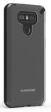 PureGear Black/Clear Slim Shell Case Hard Transparent See-Thru Cover for LG G6