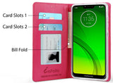 Wallet Case ID Slot Cover Stand + Strap for Motorola Moto G7 Power/Supra XT1955