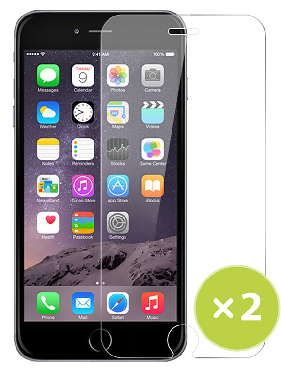 2X Tempered Glass 9H Hard Screen Protector Guard for iPhone 6 Plus (5.5