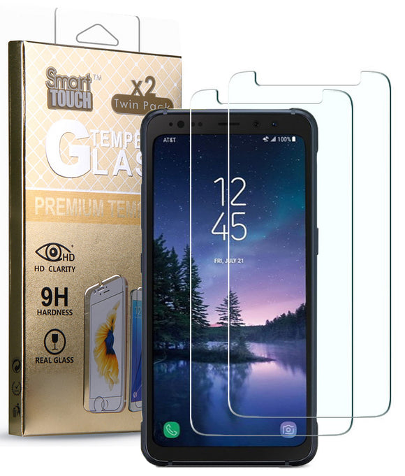2X HARD TEMPERED GLASS SCREEN PROTECTOR FOR SAMSUNG GALAXY S8 ACTIVE SM-G892A