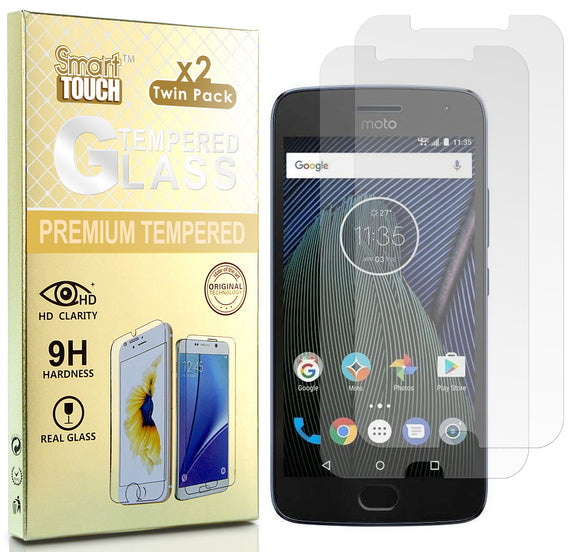 2X HARD TEMPERED GLASS CLEAR SCREEN PROTECTOR FOR MOTOROLA MOTO E4 PLUS + XT1774
