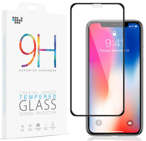 FULL SIZE HARD TEMPERED GLASS SCREEN PROTECTOR SAVER FOR APPLE iPHONE X / 10