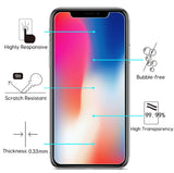 2X CLEAR HARD TEMPERED GLASS SCREEN PROTECTOR CRACK SAVER FOR APPLE iPHONE X 10
