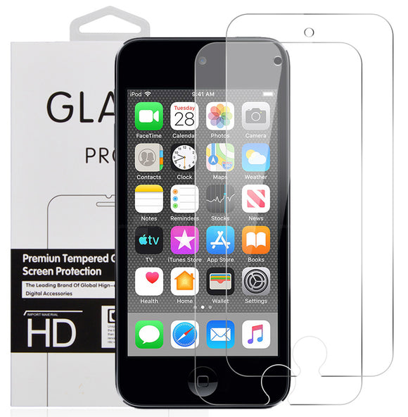 2X Hard Tempered Glass Screen Protector Crack Saver for Apple iPod Touch 7 6 5