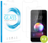 2X Tempered Glass Screen Guard for LG K30, Phoenix Plus, Premier Pro, Harmony 2