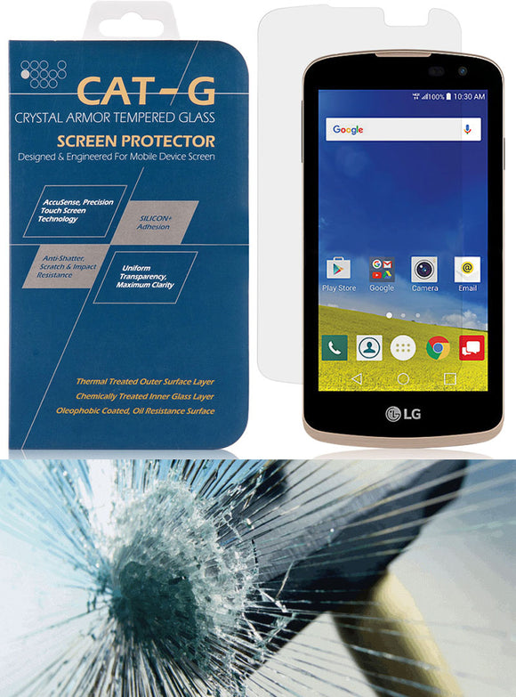 TEMPERED GLASS HARD SCREEN PROTECTOR CRACK SAVER FOR LG ZONE-3, REBEL, SPREE, K4