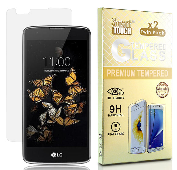 2X HARD TEMPERED GLASS SCREEN PROTECTOR FOR LG TRIBUTE 5, TREASURE, K7, ESCAPE 3