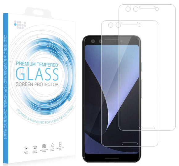 2X CLEAR HARD TEMPERED GLASS SCREEN PROTECTOR CRACK SAVER FOR GOOGLE PIXEL 3
