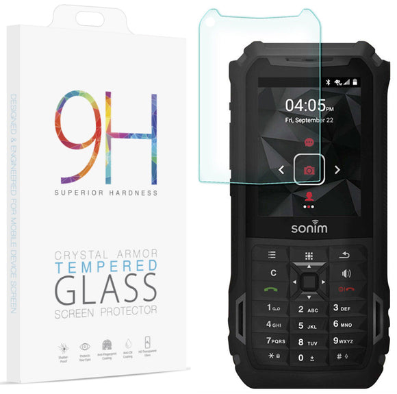Hard 9H Tempered Glass Screen Protector Crack Saver for Sonim XP5s (XP5800)