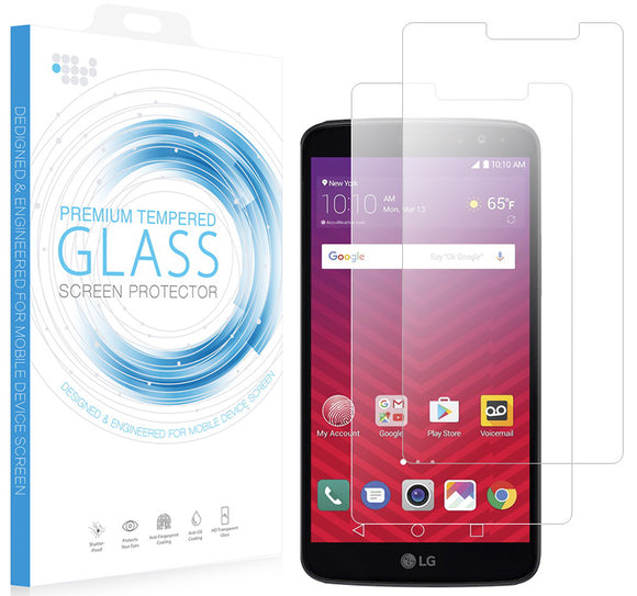 2X Hard Tempered Glass 9H Clear Screen Guard Protector for LG Q Stylus, Stylo 4
