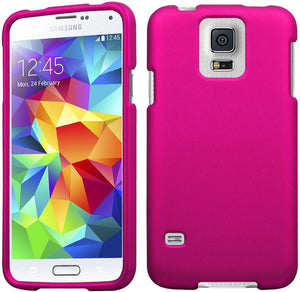 ROSE PINK PROTEX RUBBERIZED HARD SHELL CASE COVER FOR SAMSUNG GALAXY S5 S 5